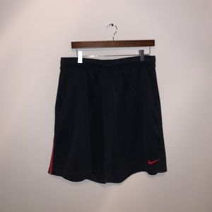 Nike Black & Red Athletic shorts size XL